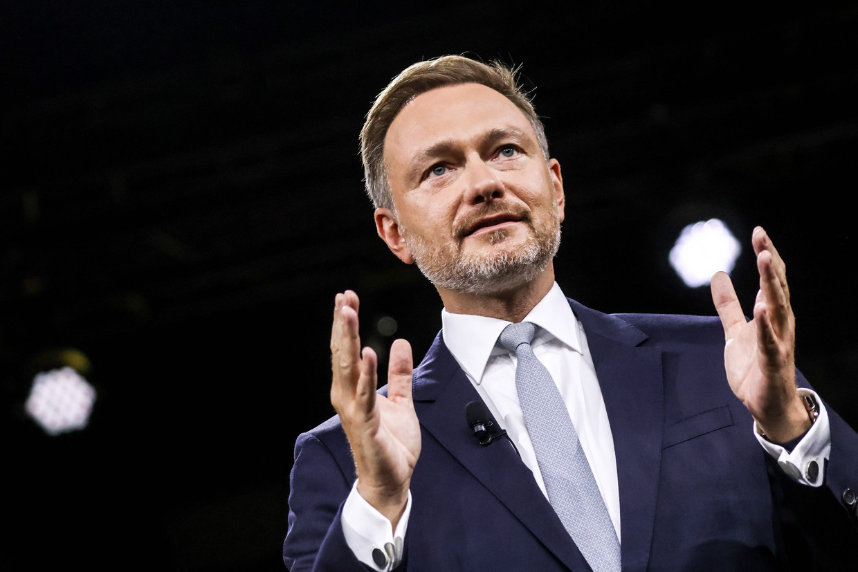 Christian Lindner, leider van de liberale FDP.  Beeld EPA