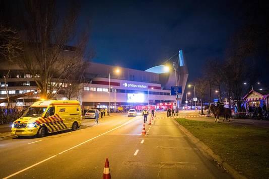 Schietpartij bij PSV-stadion.