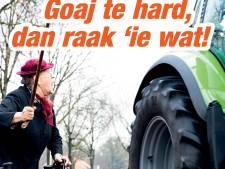 Na hondenpoepactie worden nu hardrijders op ludieke wijze aangepakt in Broekland