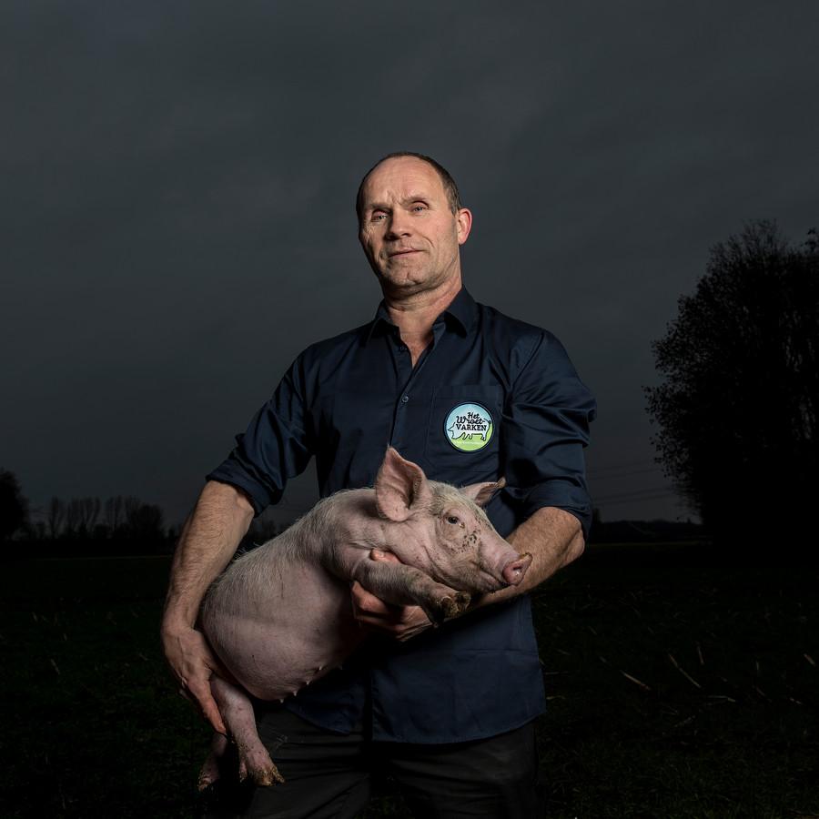 René Jansen, varkenshouder in Sint Anthonis.
