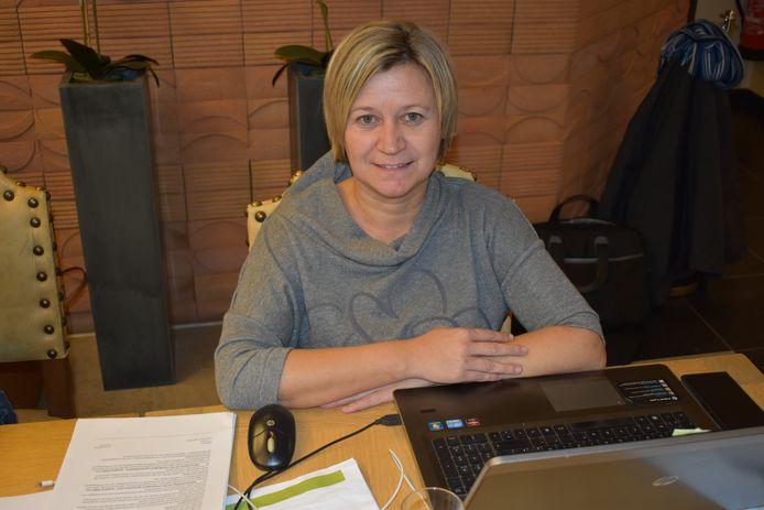 Schepen van Sociale Zaken Sabrina Coppens.