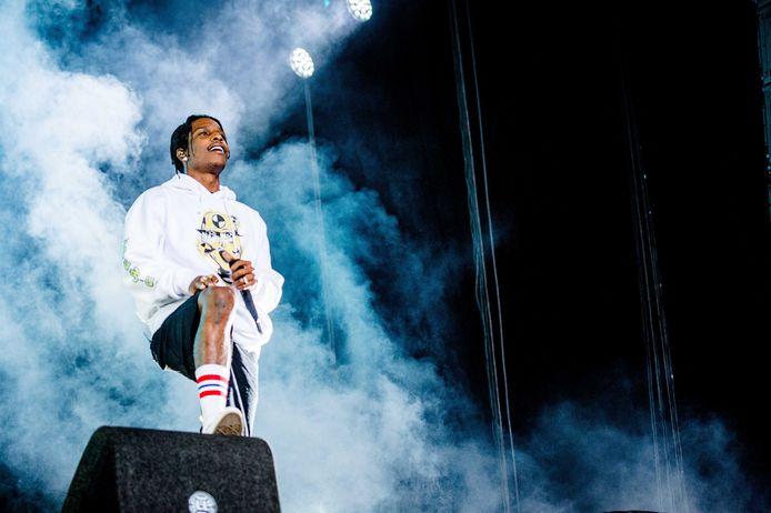 2 ASAP Rocky treedt op tijdens de derde dag van de 27e editie van muziekfestival A Campingflight to Lowlands Paradise.