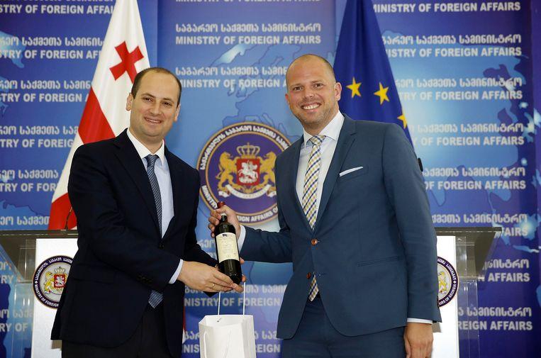 Theo Francken met Mikheil Janelidze, de Georgische minister van Buitenlandse Zaken.