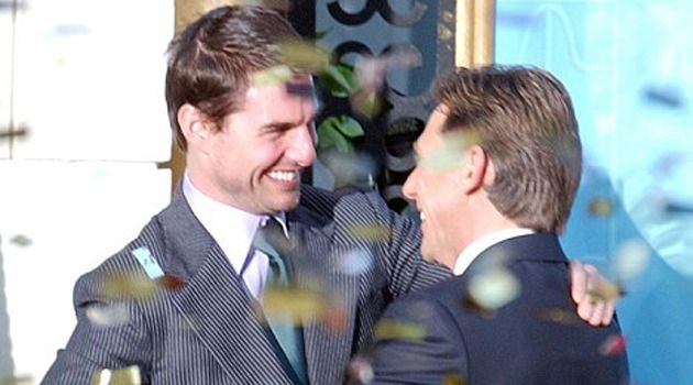 Tom Cruise en Scientology-leider David Miscavige. (r.) © AP