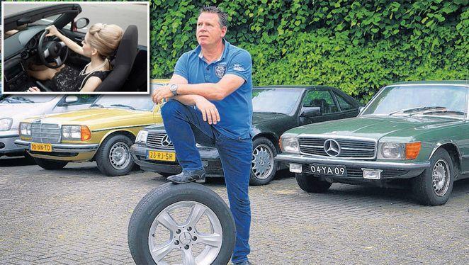 Sven Jorna werd op doortrapte wijze bestolen van een cabrio.