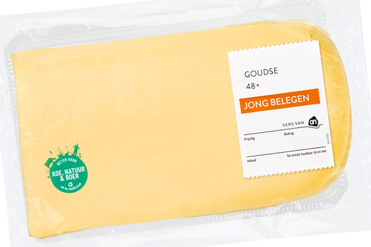 Voorverpakte kaas van Albert Heijn. Beeld