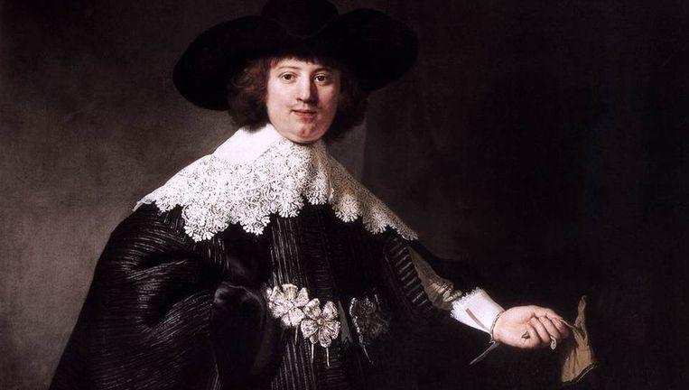 De werken uit 1634 zijn huwelijksportretten van Maerten Soolmans (l.) en Oopjen Coppit (r.). Eric de Rothschild biedt ze nu voor 160 miljoen euro aan. Beeld Rembrandt