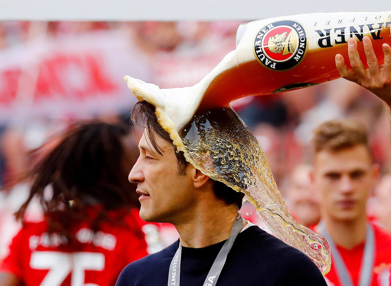 Niko Kovac lors des célébrations du titre de champion d'Allemand