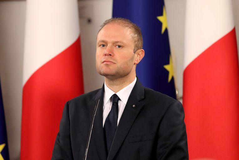 De vorige premier van Malta, Joseph Muscat, die het paspoortenprogramma introduceerde.  Beeld EPA