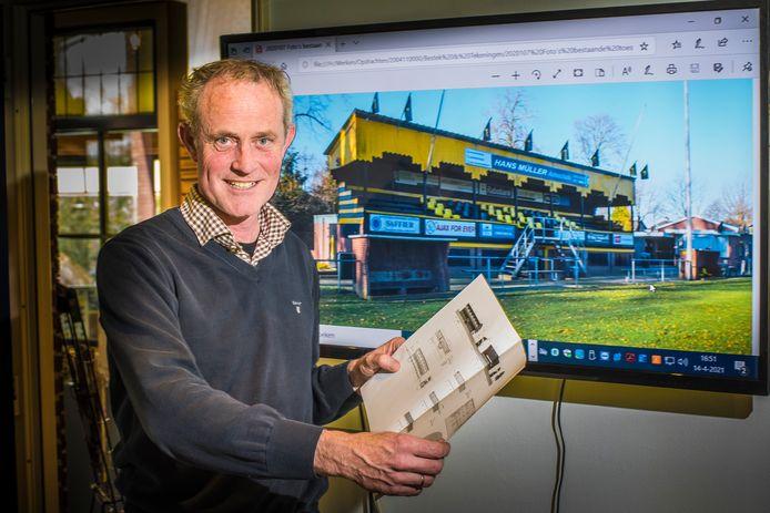 Aannemer Henk de Jong begint met zijn team in mei met de restauratie van de Engelse tribune van Rijssen Vooruit op het sportpark 't Opbroek.
