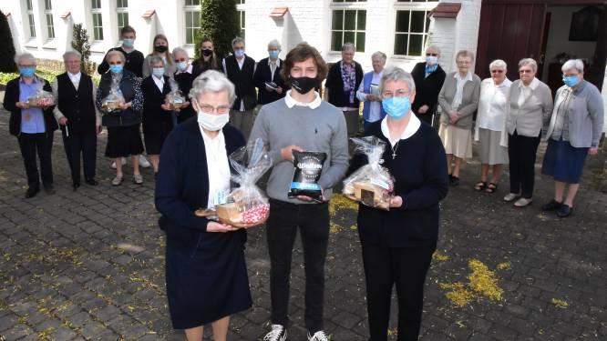Na brand in kapel en klooster: studenten Spes Nostra verwennen zusters met heerlijke tapasplanken