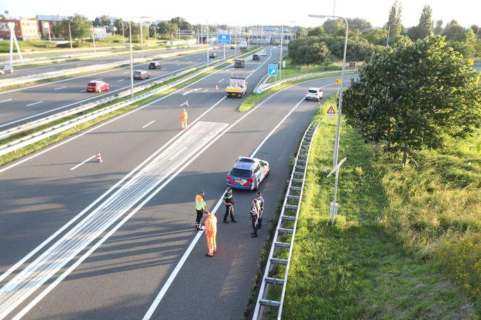 De aanhouding van de tweet verdachten op de A4 bij Leidschendam.