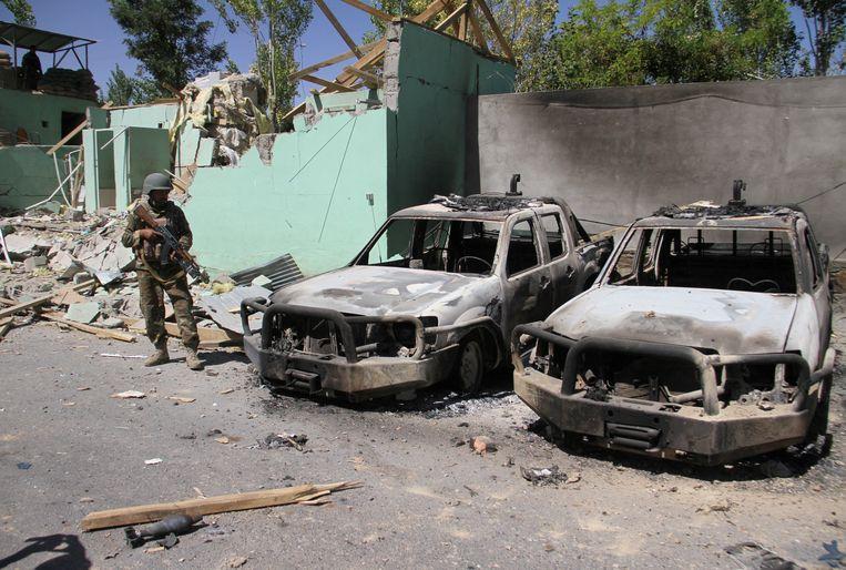 Archiefbeeld. Op 15 augustus vorig jaar was de taliban ook verantwoordelijk voor verschillende explosies in de Afghaanse stad Ghazni.