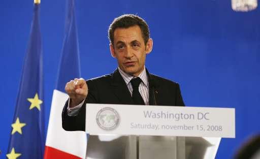 Sarkozy bleef op zijn honger zitten in Washington.
