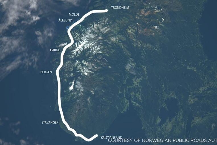 De nieuwe kustsnelweg van Noorwegen. Beeld Norwegian Public Roads Administration