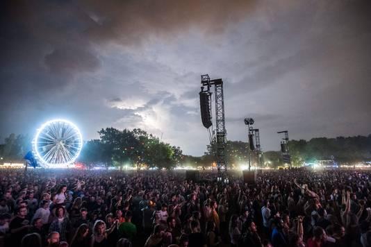 Sfeerbeeld van het Sziget-muziekfestival in Boedapest.