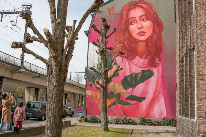'Daydream', het nieuwe werk van Kitsune Jolene, aan de Spoorweglaan in Sint-Niklaas.