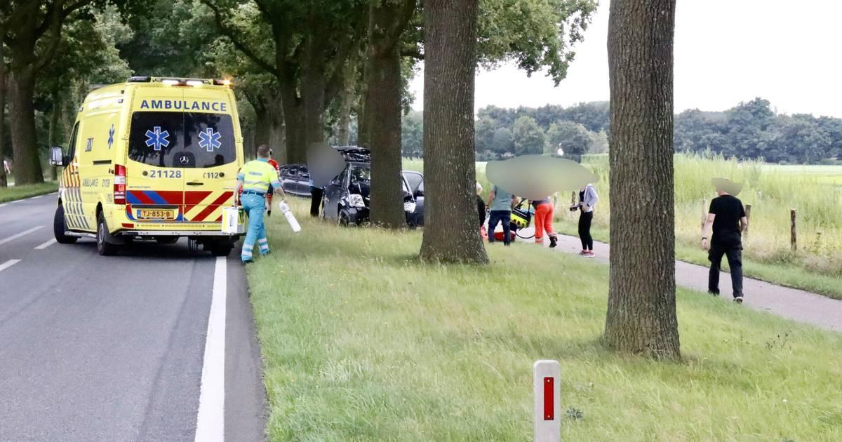 Bestuurder overleden door botsing tegen boom op N271 in Milsbeek.