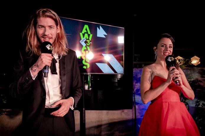 3FM djs Frank van der Lende en Eva Koreman.