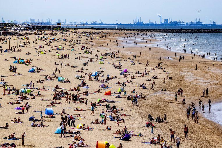 Het strand in Scheveningen. Beeld ANP