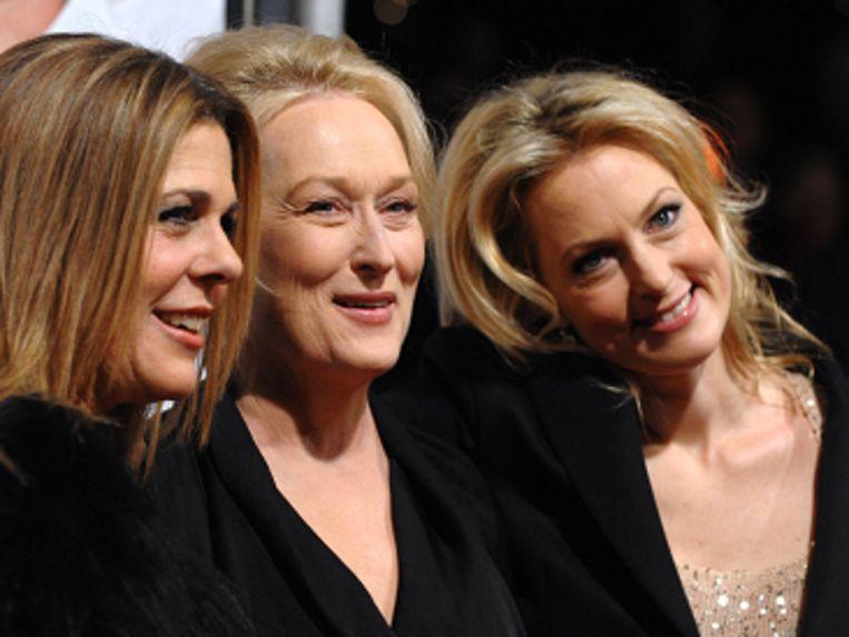 Wilson, Streep en Wentworth bij de premiëre van 'It's complicated' Beeld