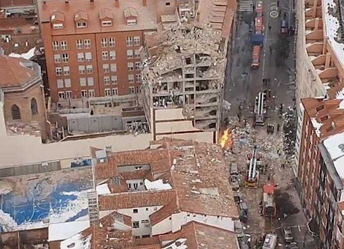 Un immeuble a été soufflé par l'explosion de Madrid, le 20 janvier. La cause est une fuite de gaz