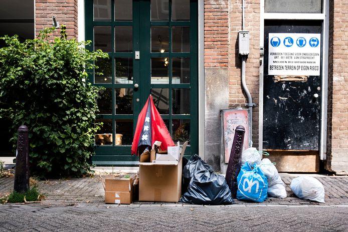 Afval in de straten van Amsterdam.