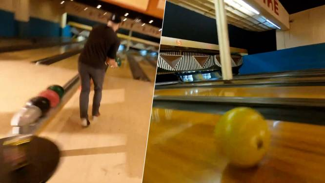 Drone vliegt langs bowlingballen en achter kegels in verbluffende video van één take