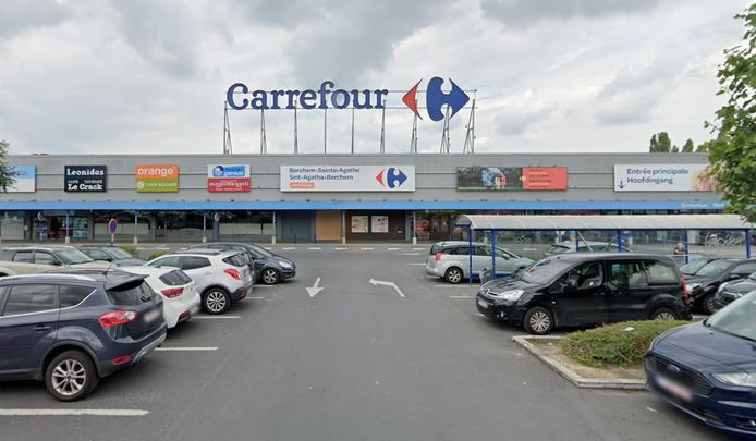 In de Carrefour-vestiging in Sint-Agatha-Berchem nemen de agressiegevallen toe.