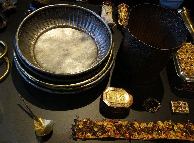 Voorwerpen uit de Lombokschat. Beeld Imageselect/World History Archive