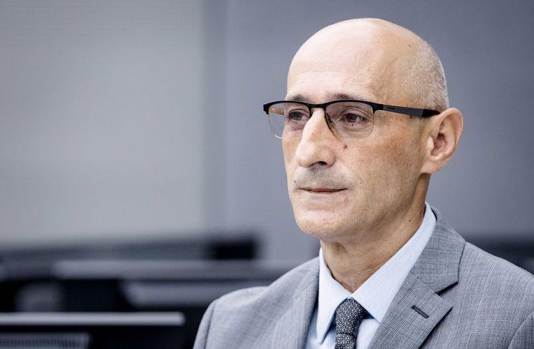 Verdachte Salih Mustafa, de voormalige rebellenleider uit Kosovo. Beeld EPA
