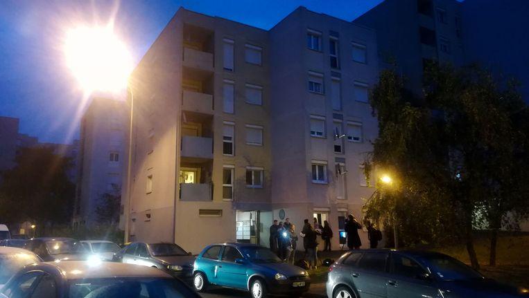 Politie bij het appartement waar Faïd geklist werd.