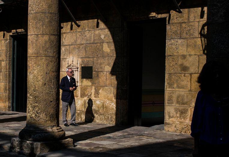 Eusebio Leal Spengler in het stadsmuseum in Havana, in 2018.  Beeld AP