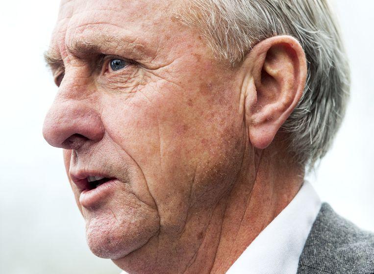 Trainer Peter Bosz laat Ajax, heet het, het voetbal van Cruijff weer spelen. Beeld anp