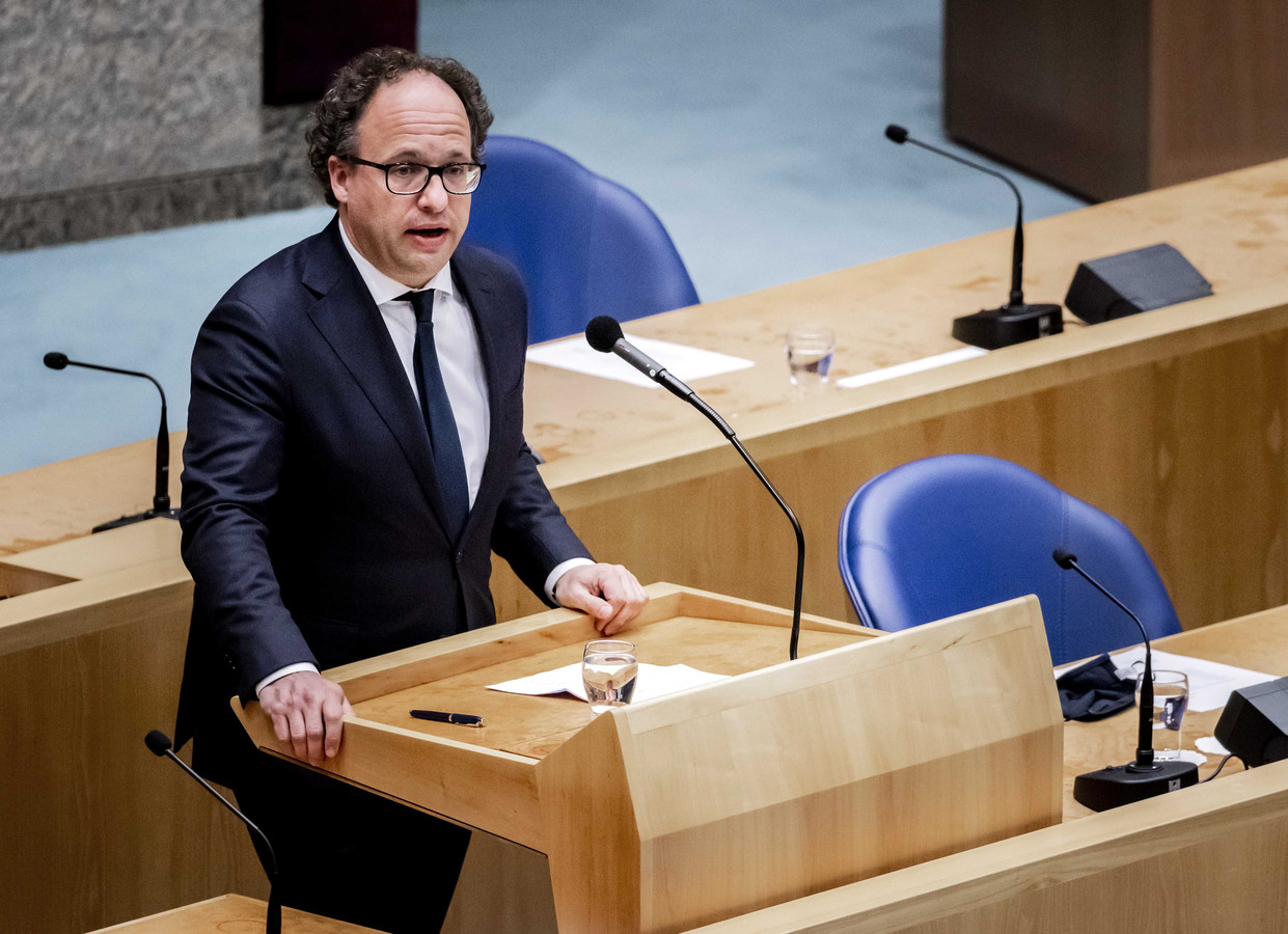 Verkenner Wouter Koolmees (D66) in de Tweede Kamer.