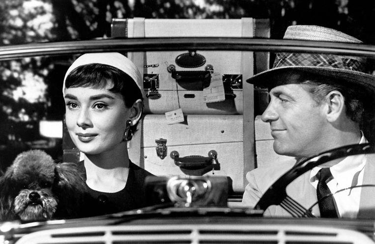 Audrey Hepburn en William Holden in Sabrina van Billy Wilder Beeld