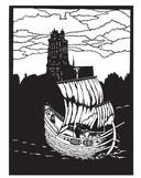 Zicht op Dordrecht - prentenboek De Vloed.