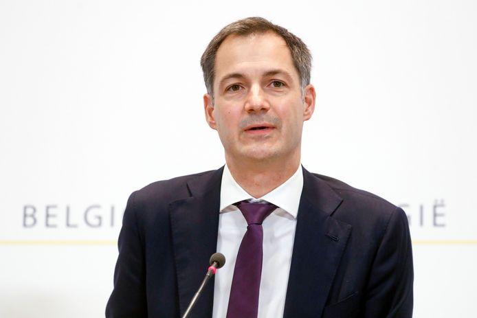 Le Premier ministre Alexander De Croo (Open VLD).