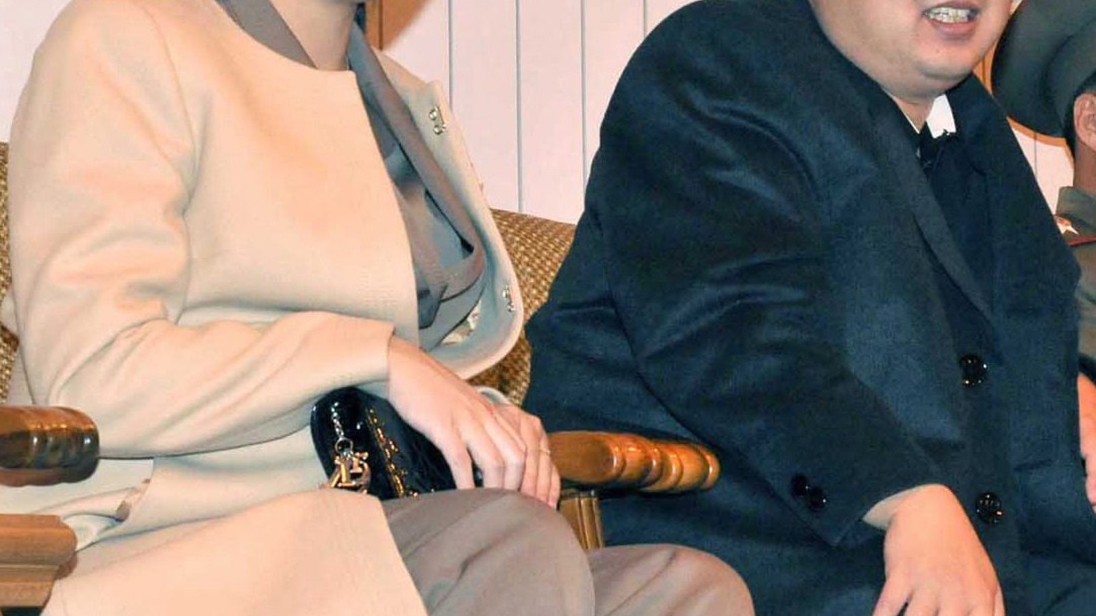 Kim Jong Un et son épouse Ri Sol-Ju.