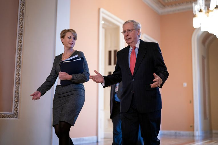 Mitch McConnell (rechts). Beeld AP