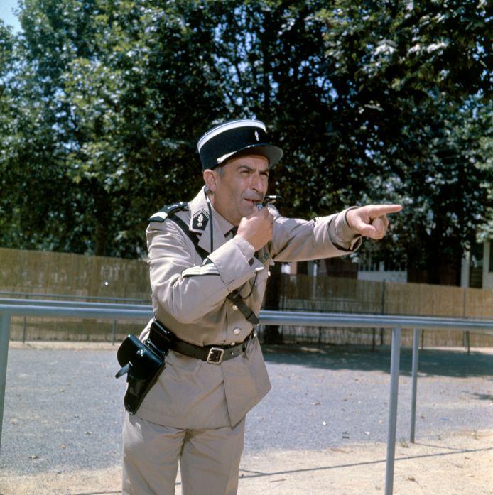 Louis de Funès als Ludovic Cruchot in 'Le Gendarme de Saint-Tropez': zijn onnavolgbare vertolking maakte van de low budget film een onverwacht internationaal succes. En Saint-Tropez werd nog bekender dan het al was.