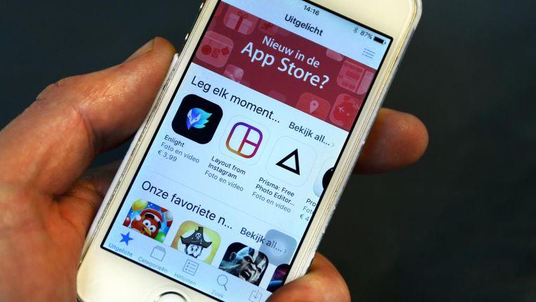 De applicatie van Mac App Store op een smartphone. Beeld anp