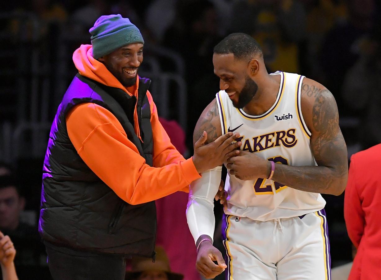 Kobe Bryant met LeBron James op 29 december.