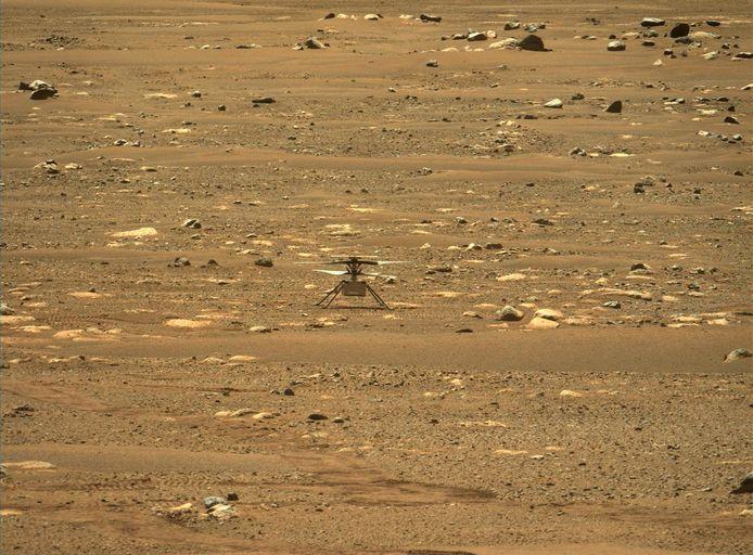 Une photo du petit hélicoptère Ingenuity de la NASA sur Mars.