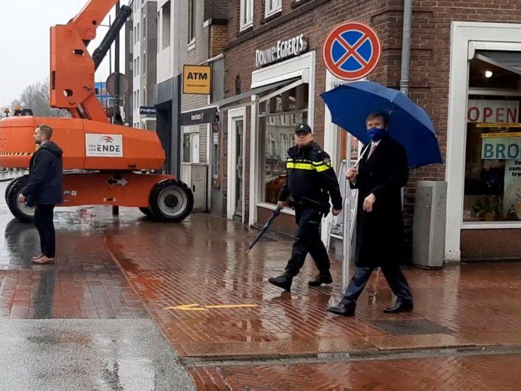 Koning bezoekt geplunderde Primera in Den Bosch