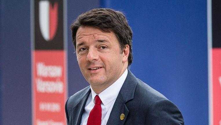 Matteo Renzi, premier. Beeld afp