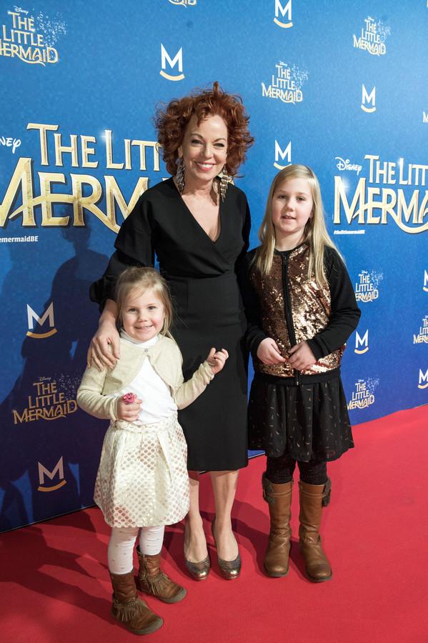 Els De Schepper een week voor het verlies tijdens de première van 'The little Mermaid'.