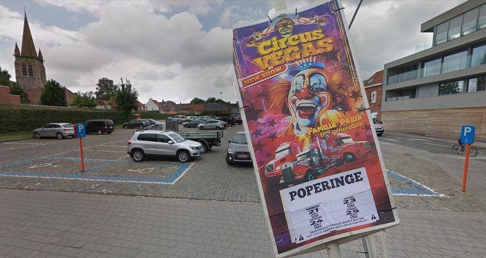 Het Oudstrijdersplein in Poperinge is afgesloten door het bezoek van Circus Vegas.