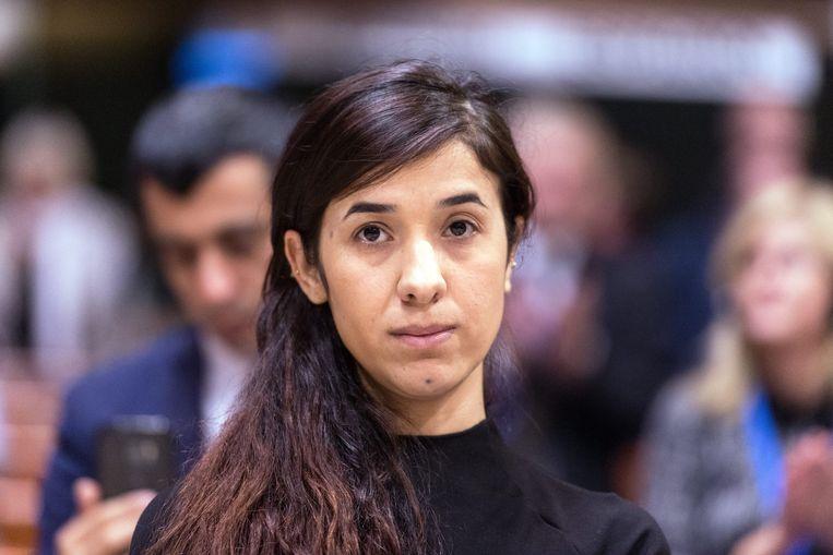 Nadia Murad won vorig jaar een prestigieuze prijs voor de mensenrechten. Beeld EPA