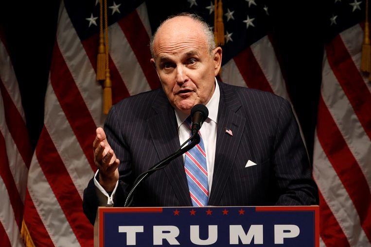 Giuliani is oud-burgemeester van New York en al jaren een vertrouweling van de president. Beeld REUTERS